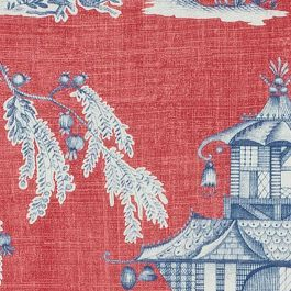 Cheng Toile Fabric In Red Amp Blue Thibaut Dynasty Fabrics