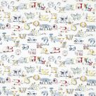 Alphabet Zoo Embroidery Fabric