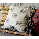 Elephant Printed Linen Fabric