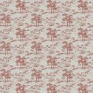 Agriculture Red Toile de Jouy Fabric