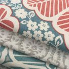 Arbour Red and Blue Floral Fabric
