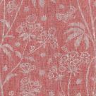 Astrea Red Floral Linen Fabric