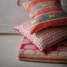 Azteque Hot Pink Linen Upholstery Fabric