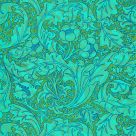 Bachelors Button Wallpaper Olive Green Turquoise