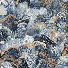 Blue and Brown Floral Wallpaper