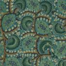 Blue and Green Curtain Fabric