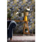 Blue and Yellow Floral Wallpaper