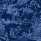 Blue Chinese Toile Wallpaper