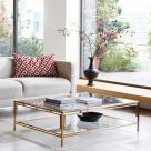 Large Brass and Glass Coffee Table