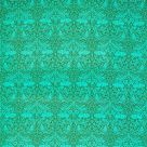 Turquoise Cotton Blend Fabric