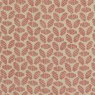 Bumble Bee Linen Fabric Rustic Red