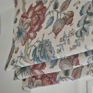 Chatterpie Red and Blue Floral Blinds
