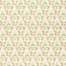 Cornwall Linen Fabric Blush Pink Green Floral
