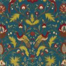 Dark Blue Embroidered Fabric