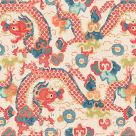 Double Dragon Wallpaper Fire Coral Pink Blue