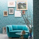 Teal Geometric Wallpaper