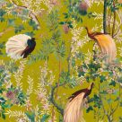 Fabric with Birds and Flowers