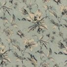 Fieldcress Toile Fabric Ink Blue Floral