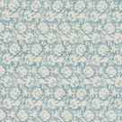 Flower Press Cotton Fabric Soft Blue