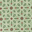 Green Embroidered Fabric