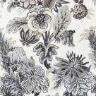 Grey and Beige Floral Fabric