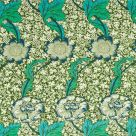 Kennet Fabric Olive Green Turquoise