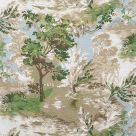 Lincoln Toile Fabric Green and Beige