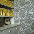 Silver Patterned Wallpaper for Walls