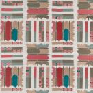 Pink and Turquoise Ikat Fabric