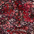 Marquess Garden Dark Purple and Red Floral Velvet Fabric