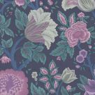 Midsummer Bloom Purple and Teal Wallpaper