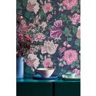 Midsummer Bloom Purple Floral Wallpaper