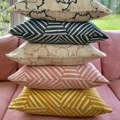 Naked Angelica Floral Print Linen Fabric Cushions