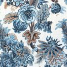 Navy and White Floral Fabric