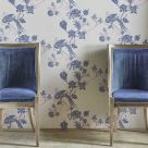 Navy Blue and Pink Wallpaper