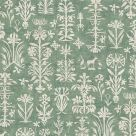 Papyrus Green Floral Print Wallpaper