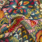Patricia Pink Patterned Cotton Velvet Fabric