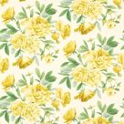 yellow floral linen