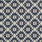 Blue and White Woven Fabric
