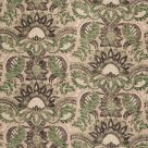Pomegranate Print Pink and Green Damask Fabric