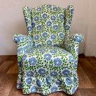 Green and Blue Paisley Upholstery Fabric