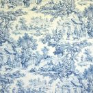 Blue Toile Upholstery Fabric