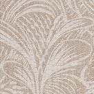 Savernake Linen Fabric Neutral Leaf