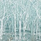Sylvania Wallpaper Turquoise Forest