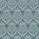 Teal Floral Fabric