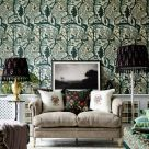 The Enchanted Woodland Green and Beige Wallpaper