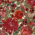 The Flowering Wallpaper Light Cream Red Green Floral