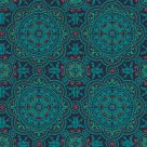 Turquoise and Red Wallpaper