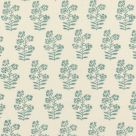 Turquoise Floral Print Fabric