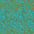 Willow Bough Wallpaper Olive Green Turquoise